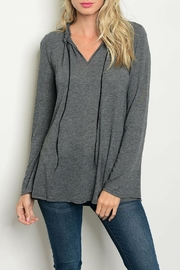 LoveRiche Relaxed Charcoal Top - Product Mini Image