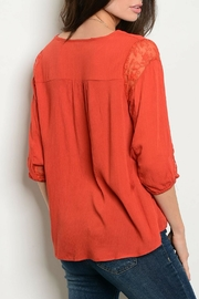 Chlah Rust Lace Top - Front full body