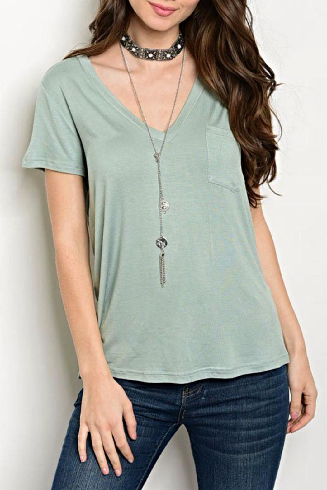 Shop The Trends  Sage Green Tee - Main Image