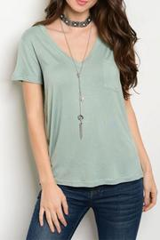 Shop The Trends  Sage V-Neck Top - Product Mini Image