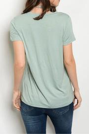 Shop The Trends  Sage V-Neck Top - Front full body