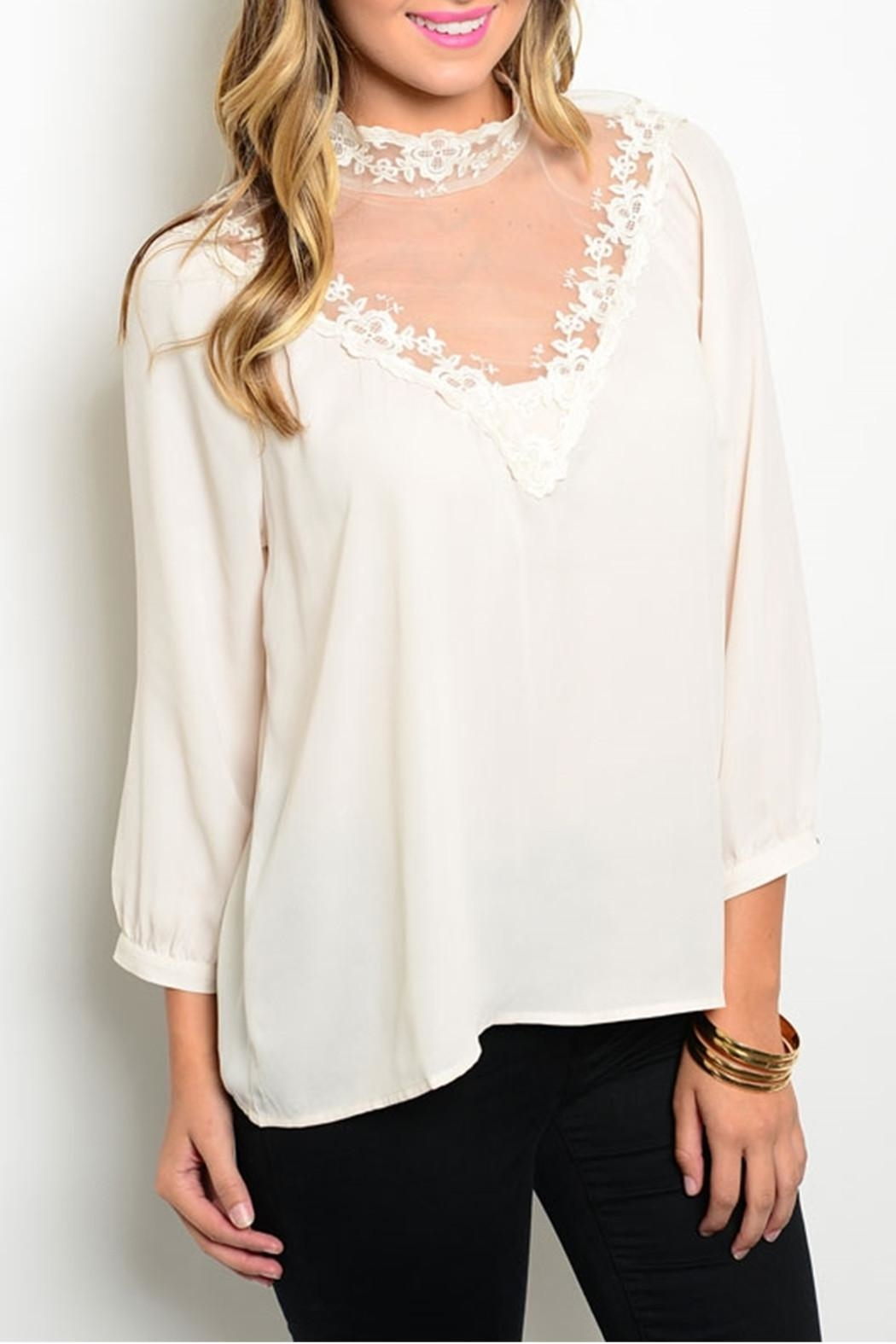 Shop The Trends  Victorian Cream Blouse - Main Image