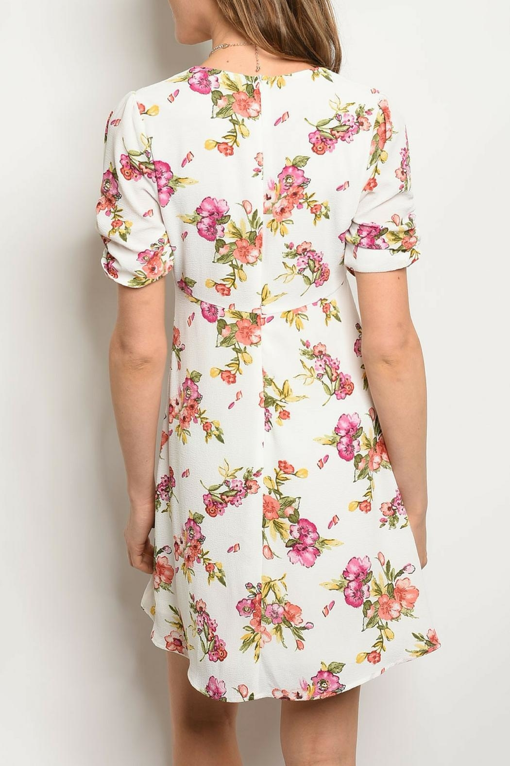Available White Floral Dress - Side Cropped Image