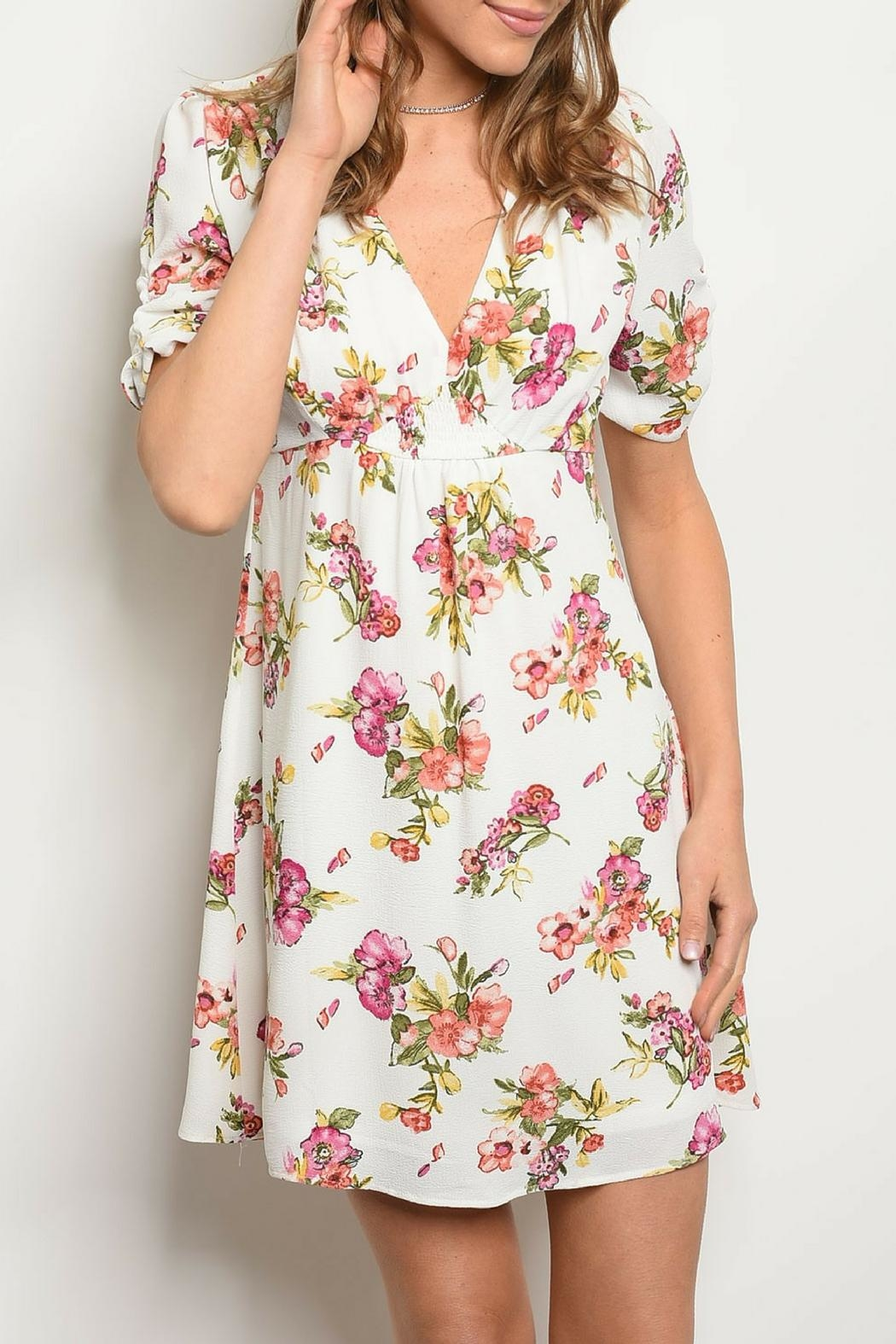 Available White Floral Dress - Main Image