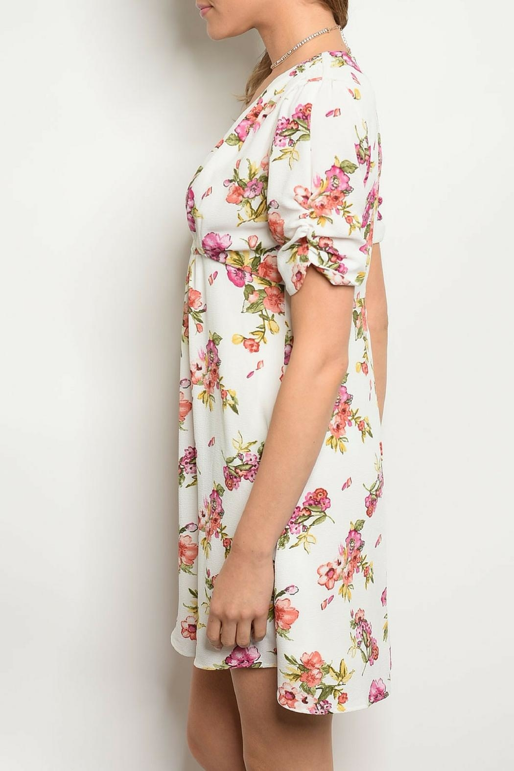 Available White Floral Dress - Front Full Image