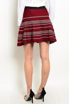 Shop The Trends  Wine Gray Skirt - Alternate List Image