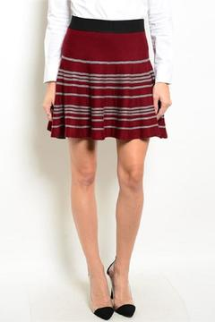 Shop The Trends  Wine Gray Skirt - Product List Image