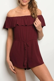 Honey Punch Wine Romper - Product Mini Image