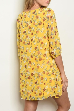 Shop The Trends  Yellow Floral Dress - Alternate List Image