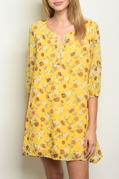 Shop The Trends  Yellow Floral Dress - Product List Image
