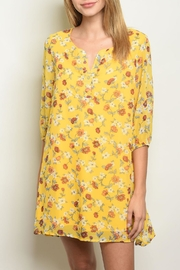 Shop The Trends  Yellow Floral Dress - Product Mini Image