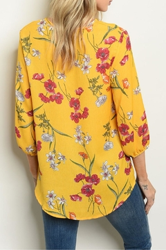 Shop The Trends  Yellow Floral Top - Alternate List Image