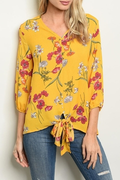 Shop The Trends  Yellow Floral Top - Product List Image
