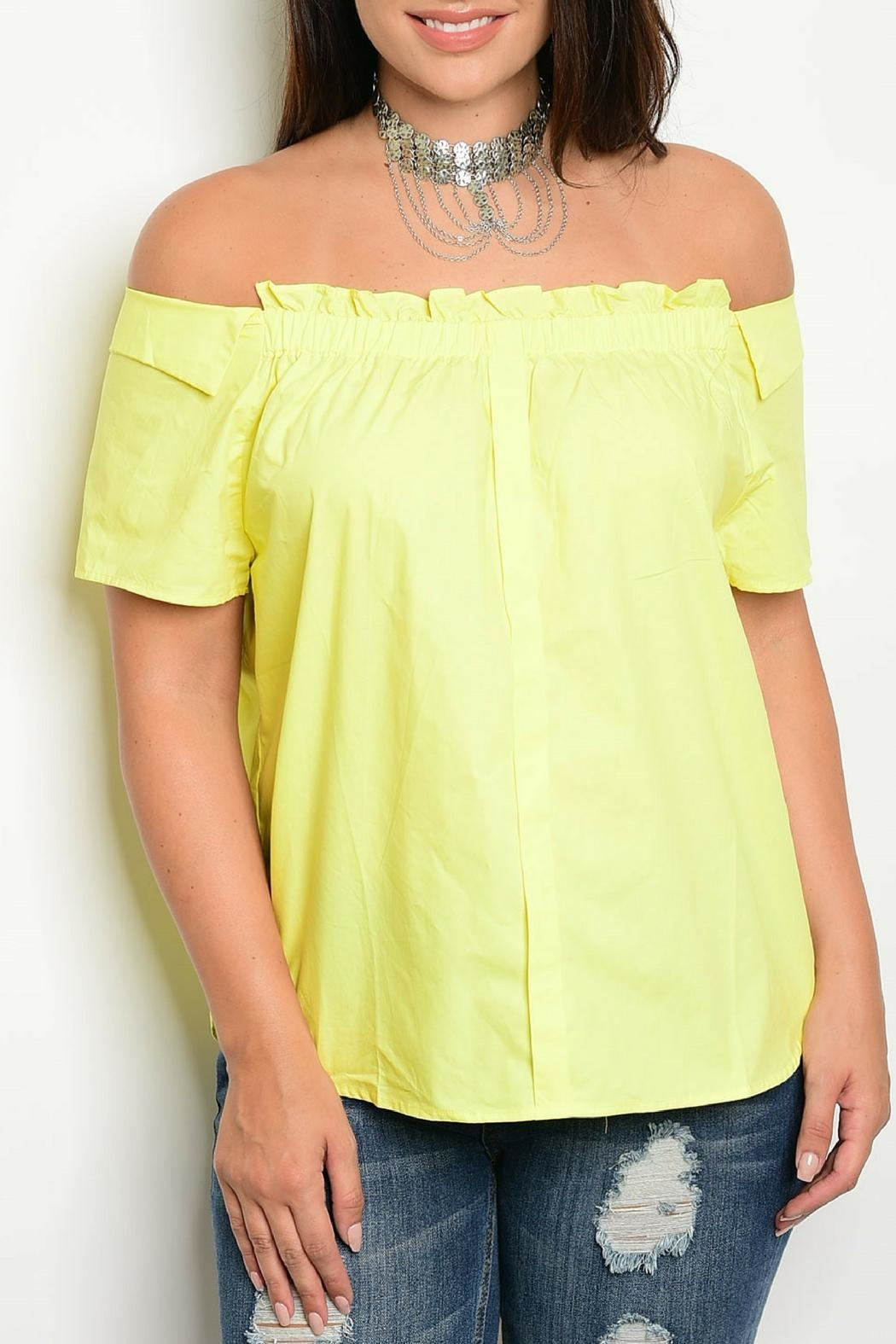 C.O.C Yellow Ruffle Top - Front Cropped Image