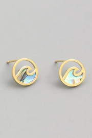 ShopGoldies Abalone Shell Earrings - Product Mini Image