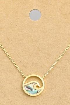 ShopGoldies Abalone Shell Necklace - Alternate List Image