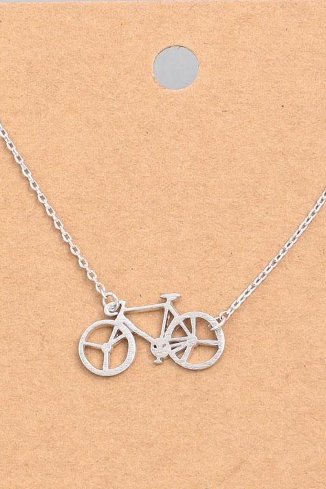 ShopGoldies Bicycle Dainty Necklace - Front Cropped Image