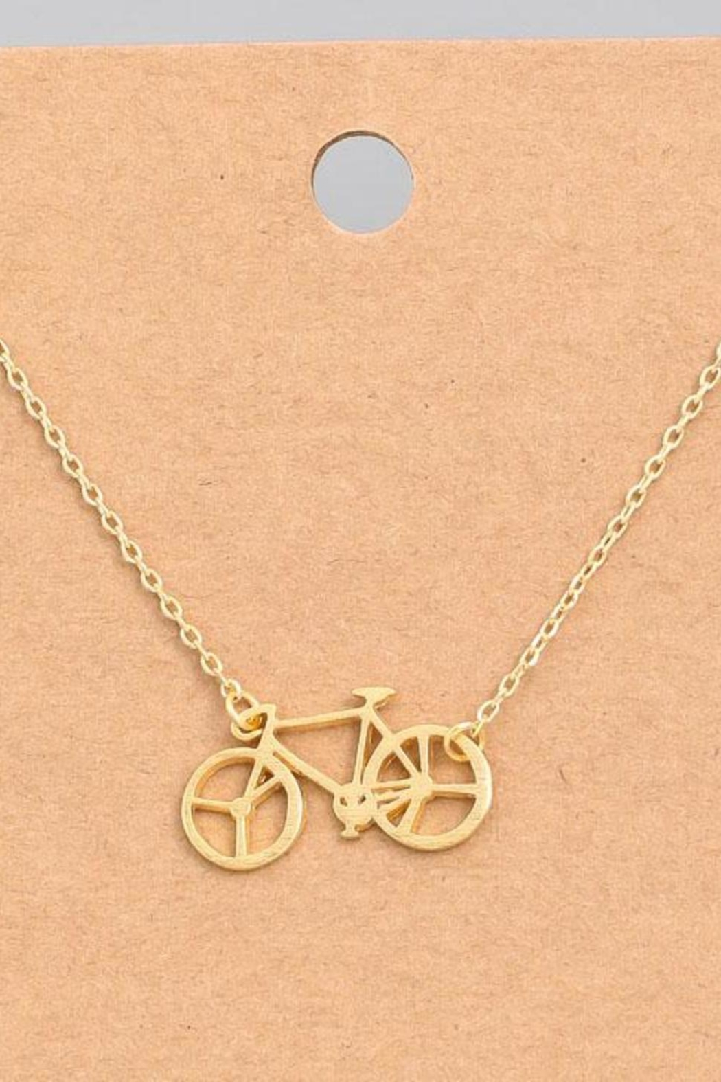 ShopGoldies Bicycle Dainty Necklace - Main Image