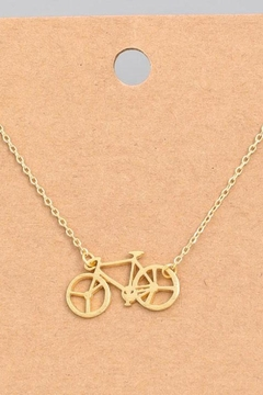 ShopGoldies Bicycle Dainty Necklace - Alternate List Image