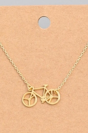 ShopGoldies Bicycle Dainty Necklace - Front cropped