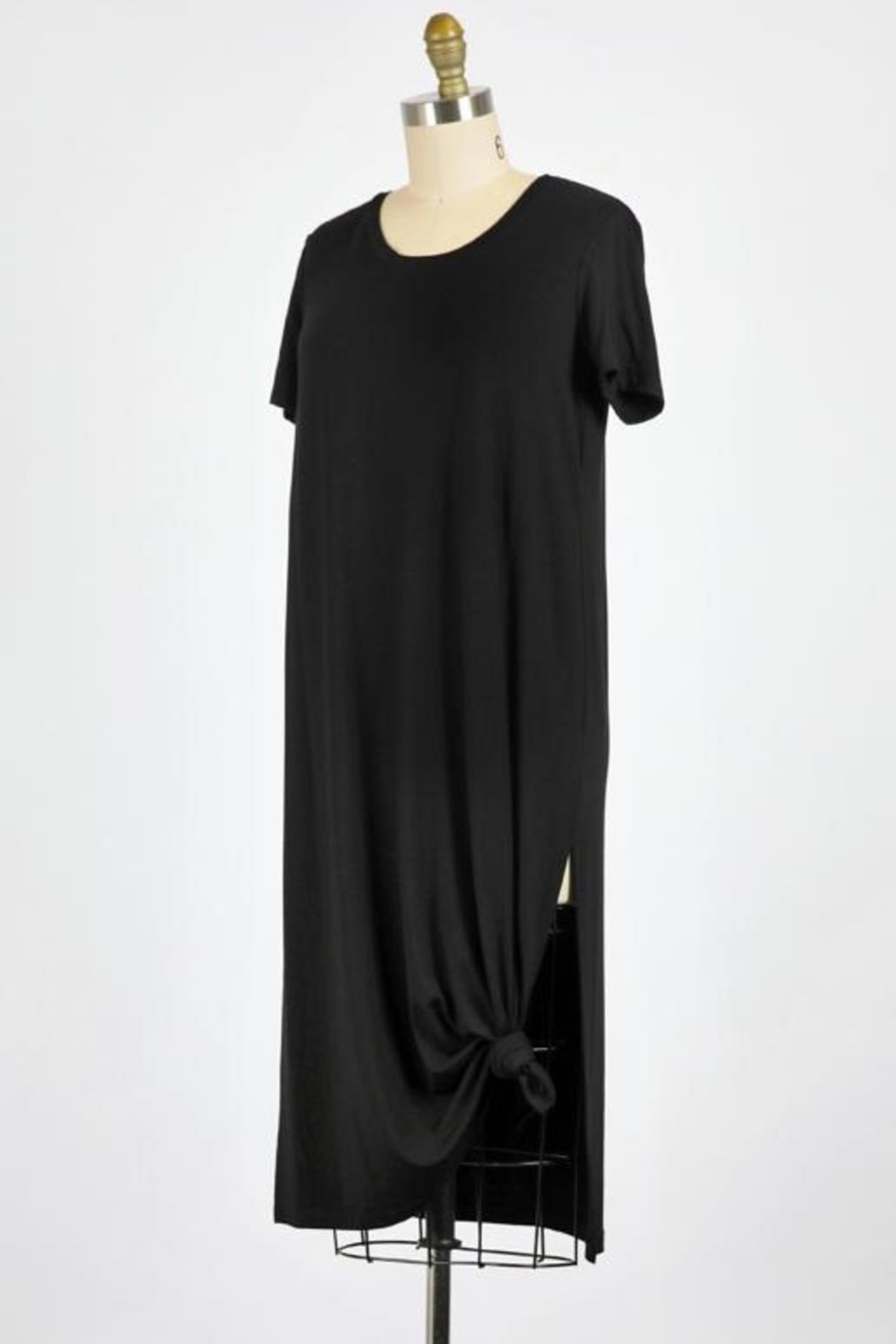 ShopGoldies Black Tee Dress - Front Full Image