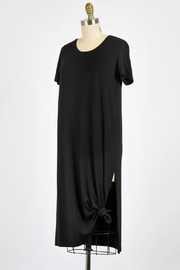 ShopGoldies Black Tee Dress - Front full body