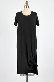 ShopGoldies Black Tee Dress - Front cropped