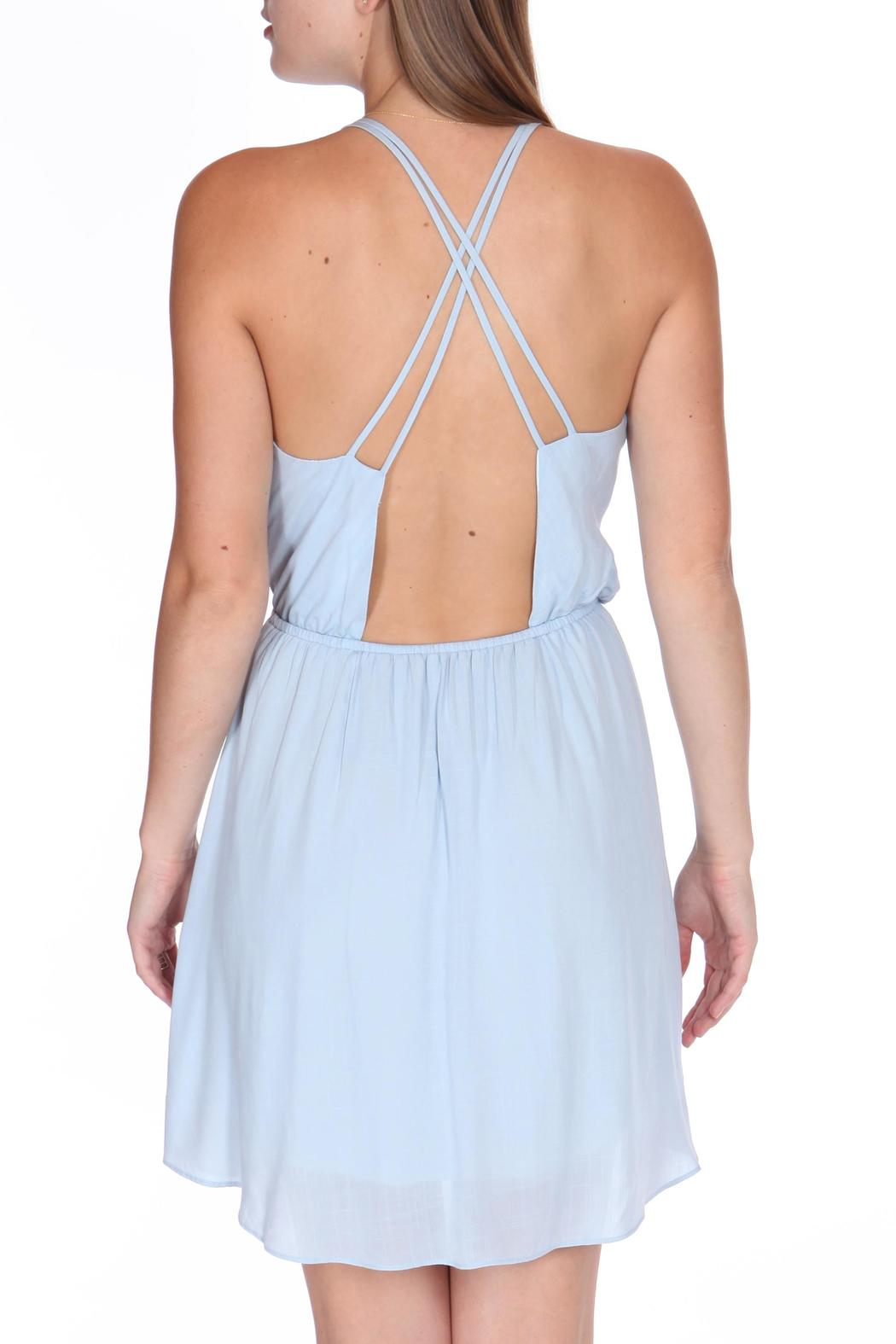 ShopGoldies Blue Skies Dress - Back Cropped Image