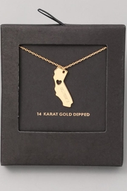 ShopGoldies California Heart Necklace - Front cropped