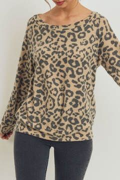 ShopGoldies Cashmere Leopard Pullover - Product List Image