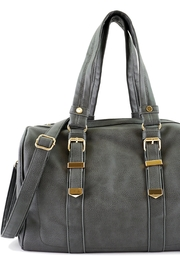 ShopGoldies Charcoal Vegan-Leather Travel-Tote - Product Mini Image