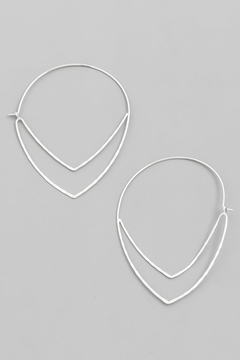 ShopGoldies Chevron Hoop Earrings - Alternate List Image