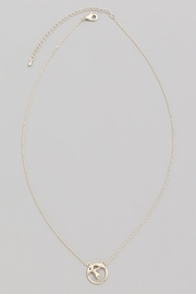 ShopGoldies Circle Snake Pendant - Front cropped