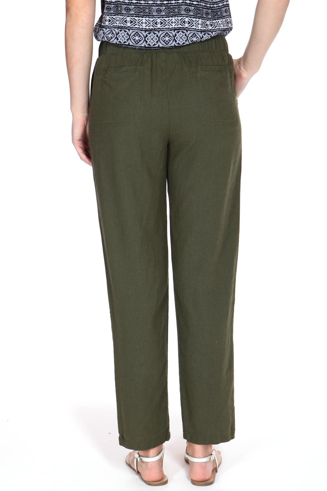 ShopGoldies Classic Linen Pant - Side Cropped Image