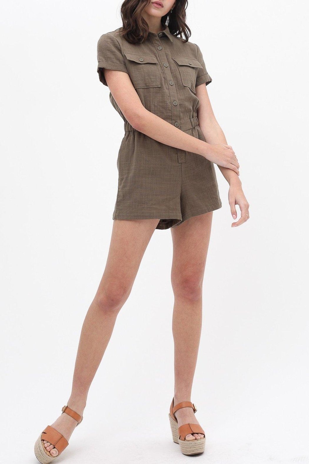 ShopGoldies Cotton Utility Romper - Side Cropped Image