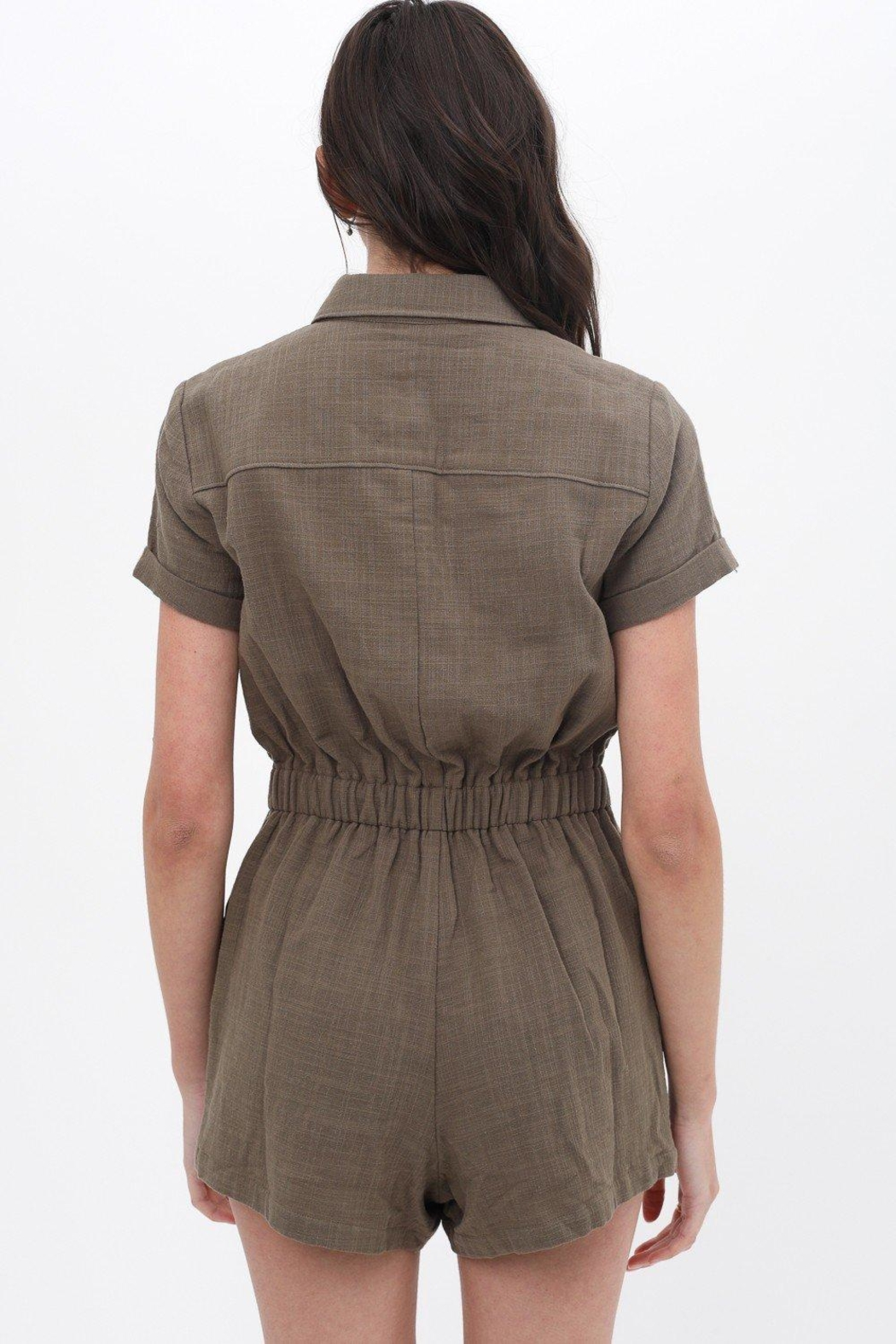 ShopGoldies Cotton Utility Romper - Back Cropped Image