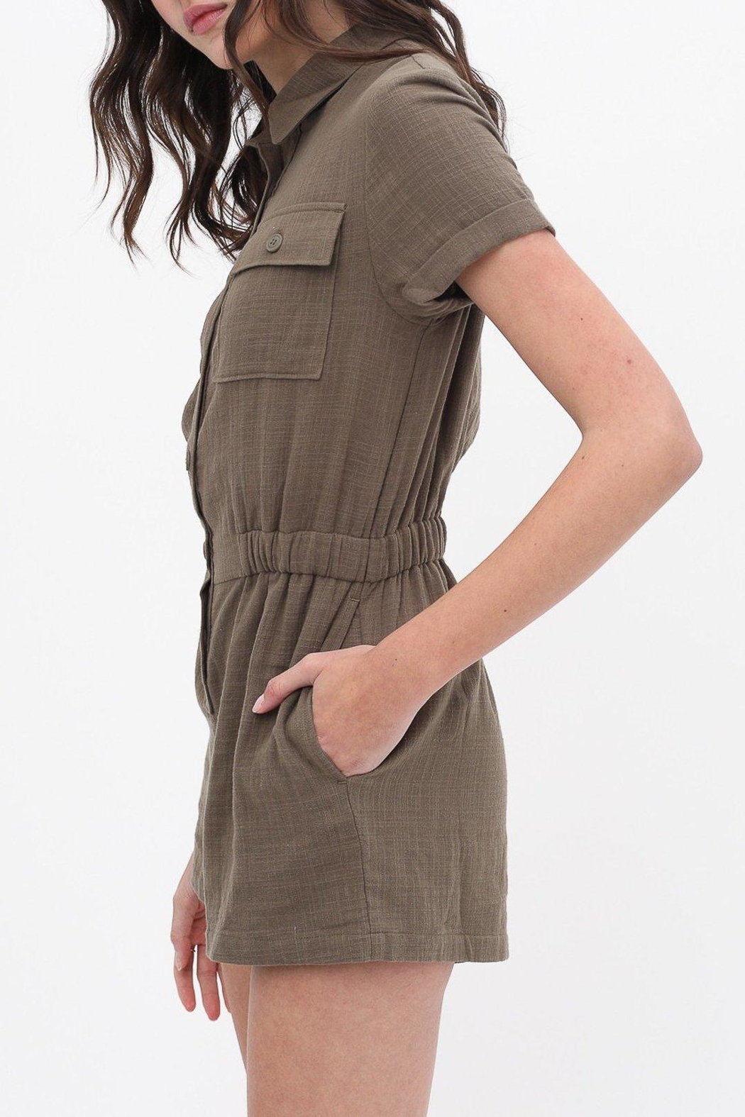 ShopGoldies Cotton Utility Romper - Front Full Image