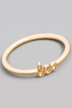 ShopGoldies Cursive Astrology Ring - Alternate List Image