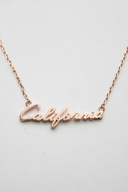 ShopGoldies Cursive California Necklace - Front cropped