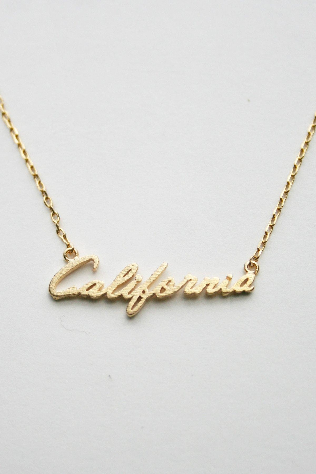 ShopGoldies Cursive California Necklace - Front Cropped Image