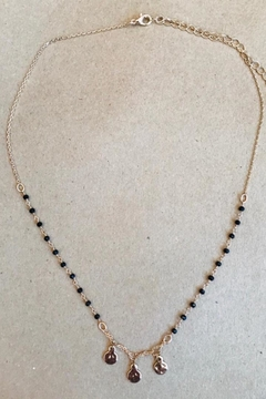 ShopGoldies Dainty Hammered Necklace - Alternate List Image