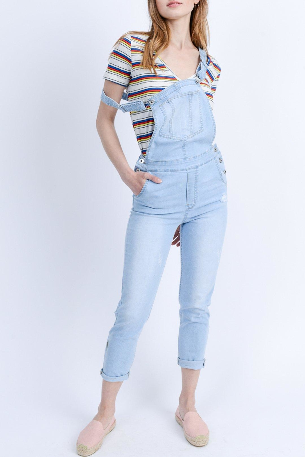 ShopGoldies Classic Denim Overalls - Front Cropped Image