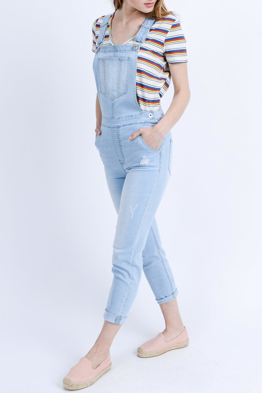 ShopGoldies Classic Denim Overalls - Side Cropped Image