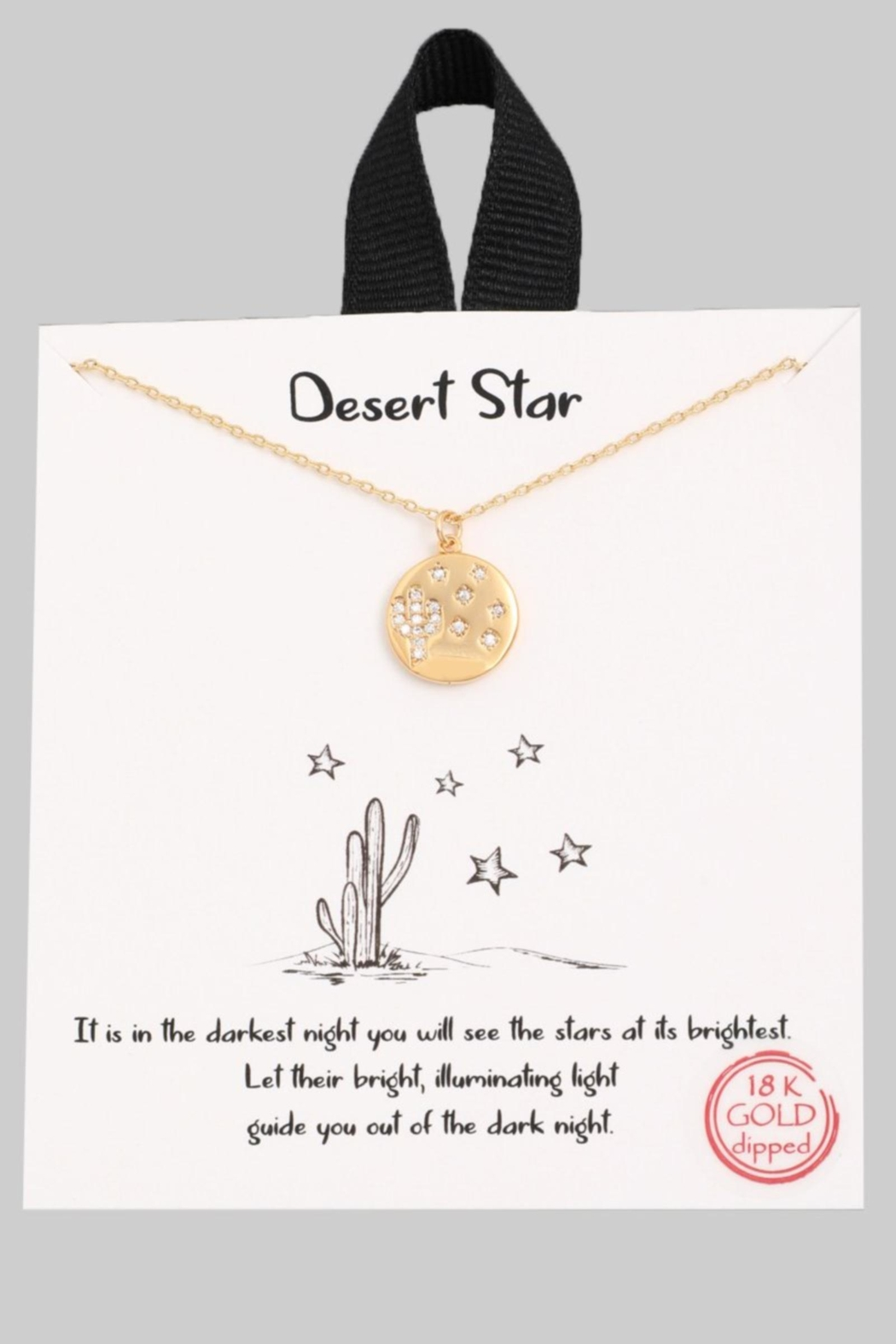 ShopGoldies Desert Star Necklace - Front Cropped Image