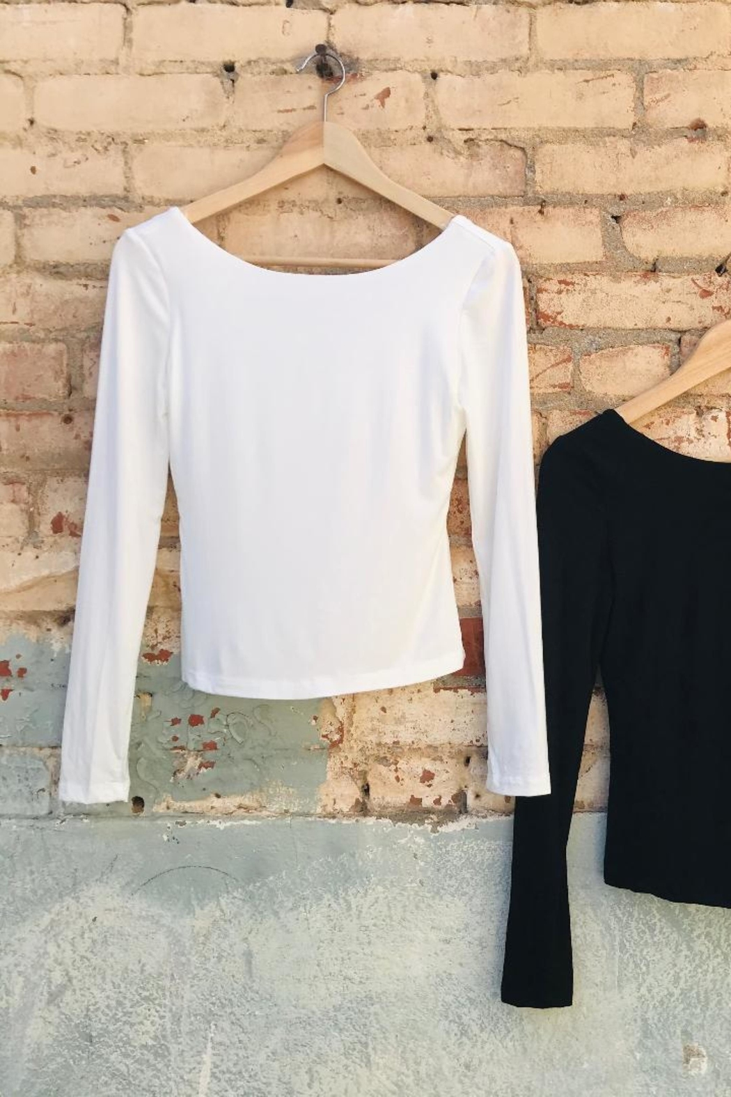 ShopGoldies Double-Layer Long Sleeve - Front Cropped Image