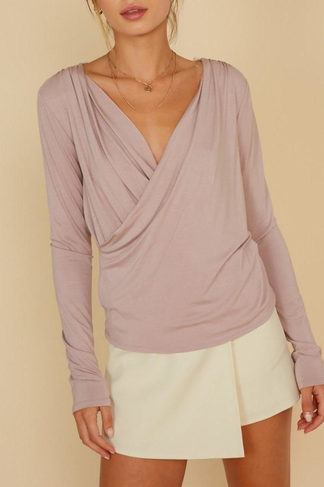 ShopGoldies Drape Front Shirt - Main Image