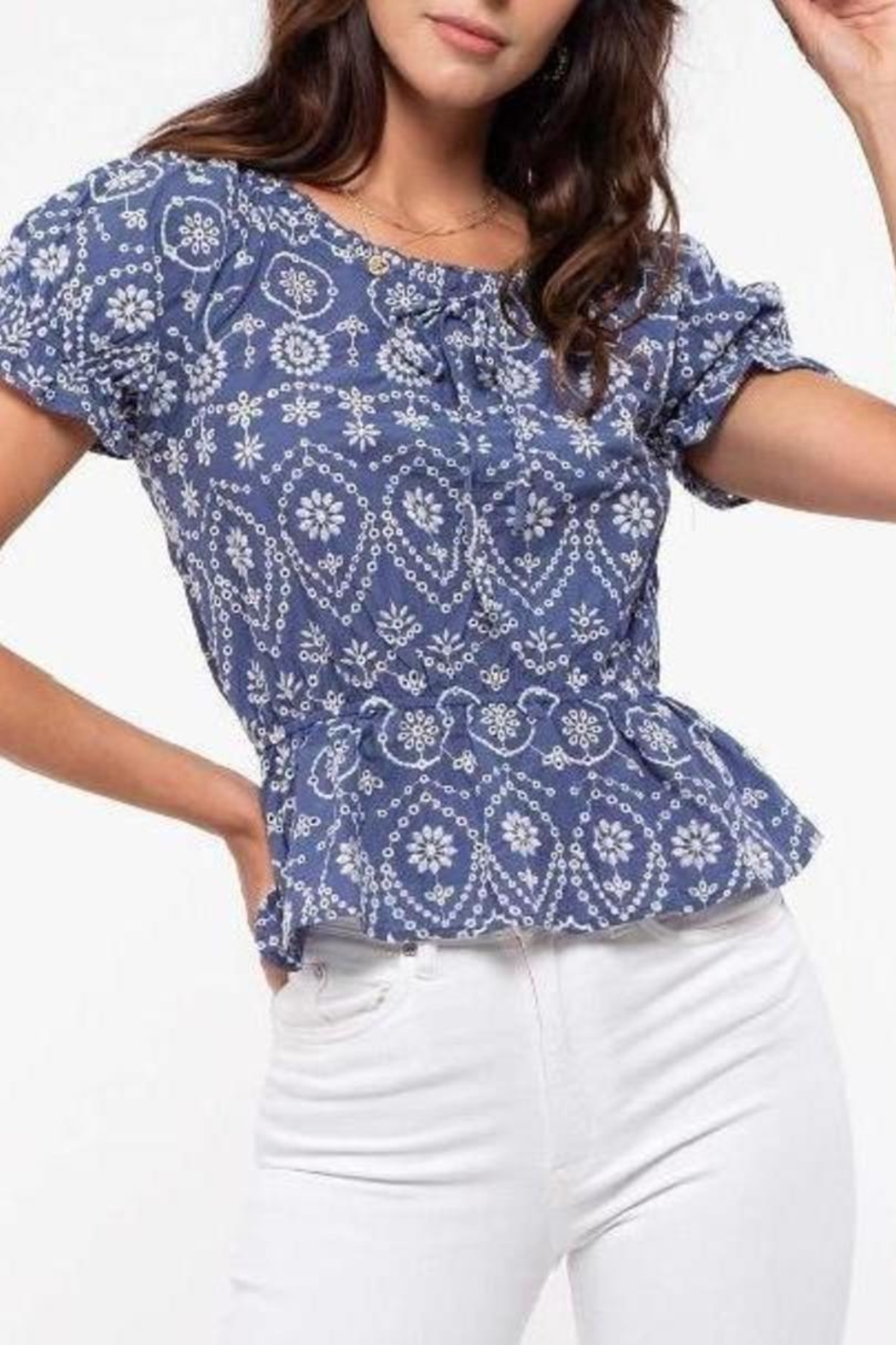 ShopGoldies Embroidery Detailing Blouse - Main Image