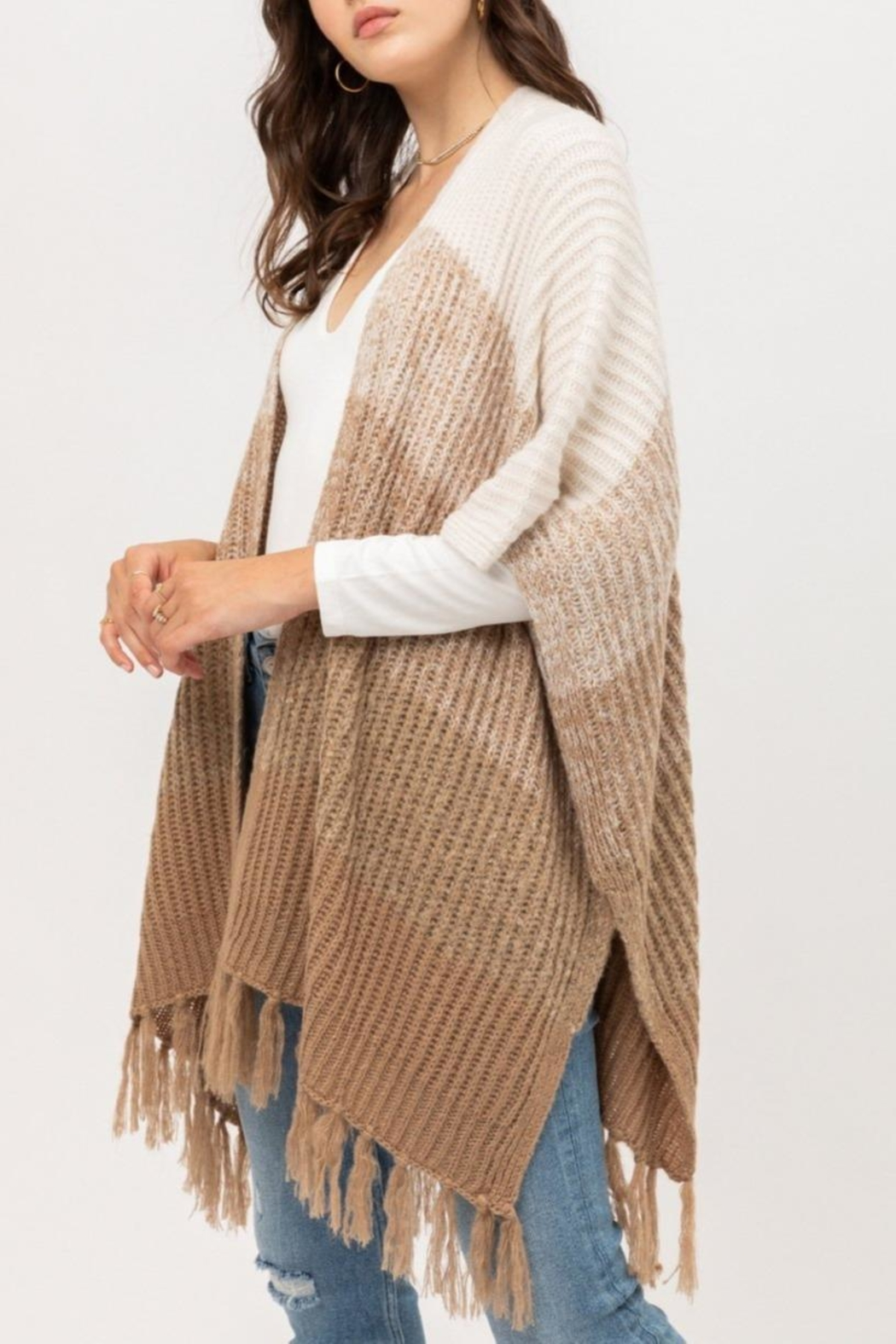 ShopGoldies Fireside Ombre Poncho - Front Full Image