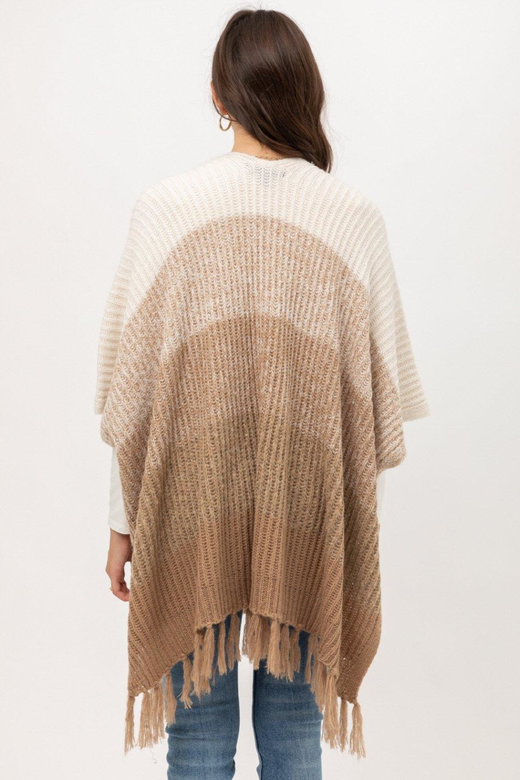 ShopGoldies Fireside Ombre Poncho - Side Cropped Image