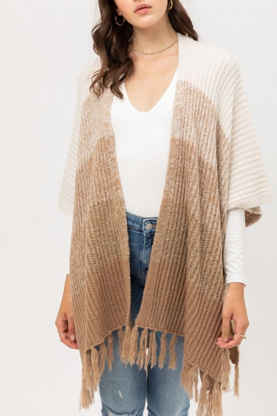 ShopGoldies Fireside Ombre Poncho - Main Image